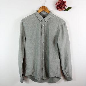 [ZARA MAN] Button Front Collared Shirt Slim Fit